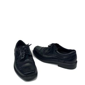 Ecco shoes oxford casual leather anti sock lace up